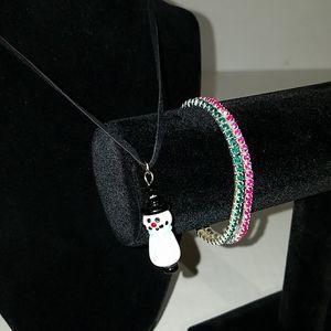 Christmas bundle necklace and bracelets 3t5